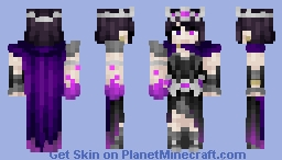 ♦ℜivanna16♦ Daeris, The Shadow Queen (Magic Skin Contest, 26TH PLACE, WOO!) (Shadow Warriors Skin Series #5) (Now with render!!) Minecraft Skin