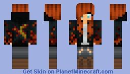 Red Hair girl Minecraft Skin