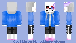 DustTale =Sans= (another one bit the dust XD) Minecraft Skin