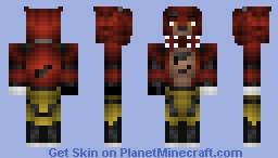 Foxy the Pirate Fox (MOVABLE MOUTH!) Minecraft Skin