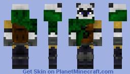 Fantasy Hunter Panda Minecraft Skin