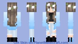 Blue Ombré Girl ; Kukuslxys Req Minecraft Skin