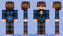 Newt Scamander (Fantastic Beasts and Where to Find Them) [Magic Contest] Minecraft Skin