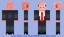 Pig in a Suit [SHADED] [CLASSIC EDITION] Minecraft Skin
