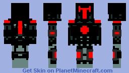 black tech knight Minecraft Skin