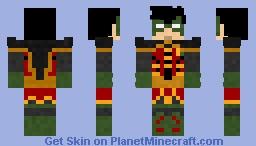 Robin | rebirth | damian wayne Minecraft Skin
