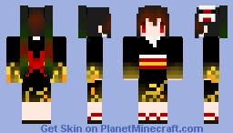 【Hatsune miku】ラセツトムクロ Minecraft Skin