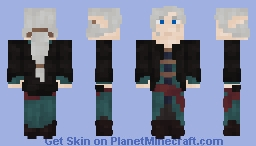 LotC Req - Elf in Teal and Brown clothing Minecraft