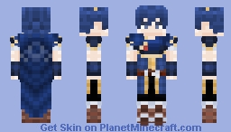 Fire Emblem | Marth [Re-Shade] Minecraft Skin