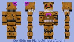 Nightmare Fredbear - FNaF 4 Minecraft Skin