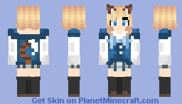 Kawaii neko (based off of picture (thank u all for subbing ) Minecraft Skin