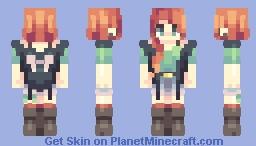 Amber Splash Minecraft Skin