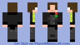 8-Bit Tux Skin Minecraft Skin