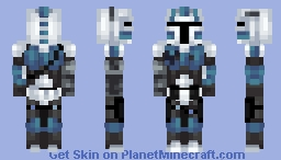 Echo (CT-21-0418) [Mandalorian] [Helmet-less version in Desc!] Minecraft Skin