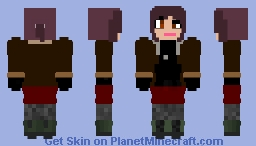 Revy in a Skirt (Black Lagoon) Minecraft Skin