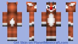 Rudolf The Red Nosed Raindeer Minecraft Skin