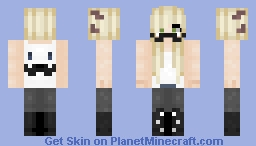~Blond girl with mustach~