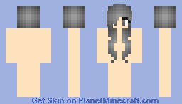 Black haired girl base Minecraft Skin