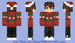 all i want for chrismas Minecraft Skin