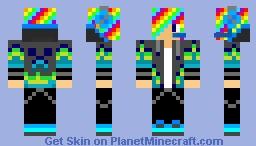 SkySlasher20 (Headphones, Rainbow) Minecraft Skin