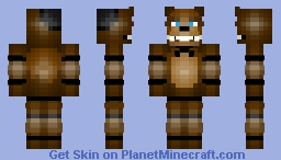 Freddy Fazbear (Detailed Color Mix, FNAF 1) Minecraft Skin