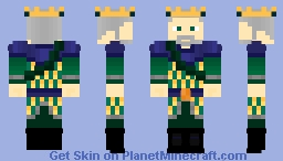 King Oenomaus Dacron (Atlantean Armour) - The Story OC {Variant in desc.} ~Ὠκεαν~ Minecraft Skin