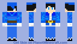 Bob the BLue Santa Minecraft Skin