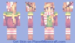Candycane Deer Minecraft Skin