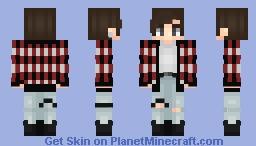 Fire - Jungkook Minecraft Skin