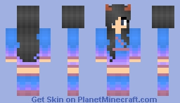 Ombre Sky -- Commissioned on DeviantArt Minecraft Skin