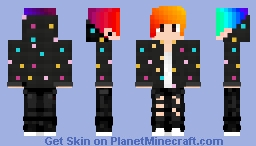 Rainbow boy Minecraft Skin