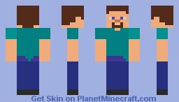 Simple Paint-Steve Minecraft Skin
