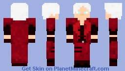 Devil may Cry 1 Dante the Ledendary Dark Knight Minecraft Skin