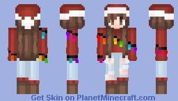 🎄| christmas light gallll Minecraft Skin