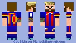 Lionel Messi 2016/17 Minecraft Skin