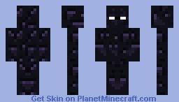 Obsidian man Minecraft Skin