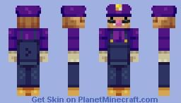 Waluigi Minecraft Skin