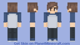 Blue Baseball Tee Minecraft