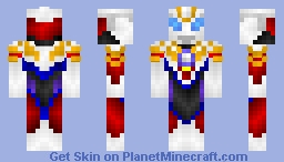 Ultraman Orb Zeperion Solgent (Ultraman Tiga+ Ultraman Dyna) Minecraft Skin