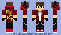 REKT hoodie Minecraft Skin