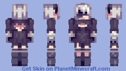 YoRHa No. 2 Model B - NieR:Automata Minecraft Skin