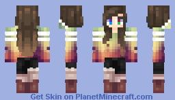 -|[Rainbow Girly girl]|- Minecraft Skin