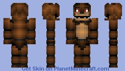 Freddy FazBear (Red Eyes) Minecraft Skin