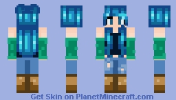 Sea Green   ItzSimplyMeKat Minecraft Skin