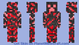 Core Creeper: Red and Blue versions! Minecraft Skin