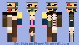 Stranger Things Collage Minecraft Skin
