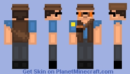BLU Sniper | Team Fortress 2 Minecraft Skin