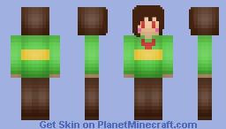 Greetings, i am chara Minecraft Skin