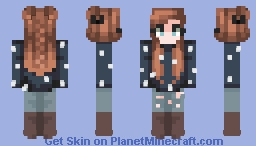 She wore the Galaxy. Old skin redo! ~ BOYISH Minecraft Skin