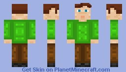 My birthday, aka the day where every single friend and family member I have wish me the same thing over and over again. Minecraft Skin